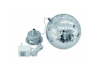Eurolite LED Spiegelkugel 20cm, mit Motor FC, mit Innenbeleuchtung