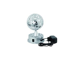 Eurolte LED Spiegelkugel 13cm mit Leucht-Standfuß, Standspiegelkugel