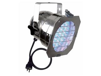 LED PAR 56 LED RGB Silber, 153 LEDs, 6 DMX Kanäle