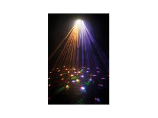 Showtec X-Terminator 6 x 3W RGBWA LED + 12 Strobes + RG Laser