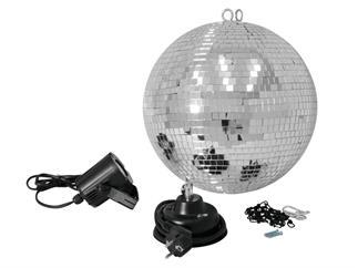 LED 30cm Spiegelkugelset Motor + Kette LED 6000K kaltweiß