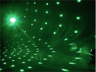 Eurolite Spiegelkugelset 30cm mit LED-RGB-Spot und Fernbedienung
