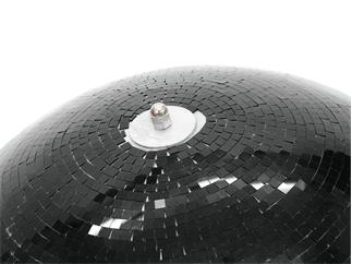 Spiegelkugel 75cm schwarz