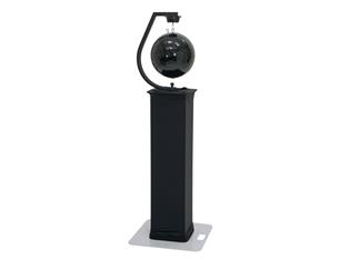 EUROLITE Stativhalterung mit Spiegelkugelmotor, bis 50cm, schwarz + Schnellverbindungsglied