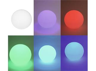 europalms LED Leuchtkugel 30cm multicolor Akku mit Fernbedienung