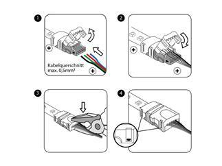 EUROLITE LED Strip Einspeiser 3Pin 10mm