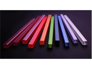 Leer-Rohr, 10x10mm, rot UV-aktiv, 2m