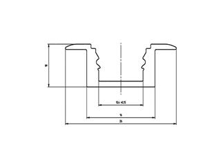 Eurolite U-Profil MSA für LED Strip silber 4m Aluminiumprofil für LED Strips