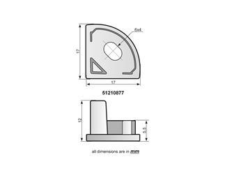 EUROLITE Endkappen für Eck-Profil silber