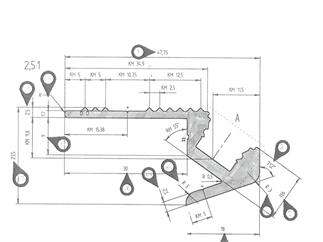 Eurolite Treppenprofil für LED Strip silber 2m Aluminiumprofil für LED Strips