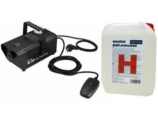 EUROLITE N-10 Nebelmaschine schwarz Party-Nebelmaschine + 5 Liter Heavy Fluid