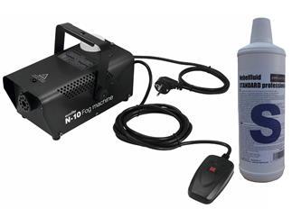 EUROLITE N-10 Nebelmaschine schwarz Party-Nebelmaschine + 1 Liter Standard Fluid