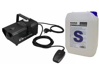 EUROLITE N-10 Nebelmaschine schwarz Party-Nebelmaschine + 5 Liter Standard Fluid