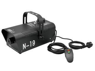EUROLITE N-19, Nebelmaschine schwarz mit Kabelfernbedienung