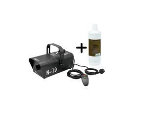 EUROLITE N-19, Nebelmaschine schwarz mit Kabelfernbedienung + 1 Liter Fluid C