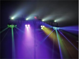 Eurolite LED KLS Laser Bar FX-Lichtset 2x Derbys + 2x Spots + 4x Strobe LEDs + Laser