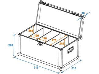 ROADINGER Transportcase 4x PRO Slim, Größe M ECO