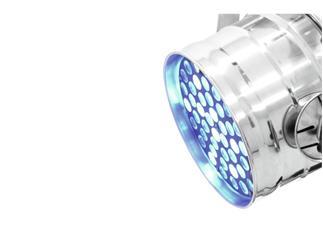 EUROLITE LED PAR-64 short 49 LEDs 3W RGBW+UV silber