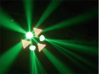 EUROLITE LED Flash Flower 3 rotierenden Prismen und integriertem Stroboskop