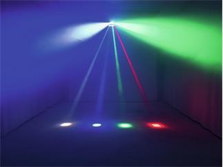 EUROLITE LED SDR-8 Strahleneffekt mit zwei separat neigbaren Leisten und acht Beams