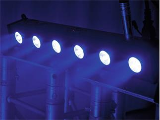 EUROLITE LED BAR-6 QCL RGBW Leiste mit 6 x 4-W-QCL-LED