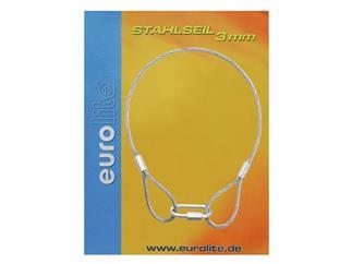 Stahlseil 400x3mm silber mit Verbinder