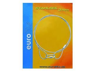 Stahlseil 900x3mm silber mit Verbinder