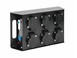 Eurolite SAB-61 Stromverteiler - Roadtauglicher 6-fach Stromverteiler