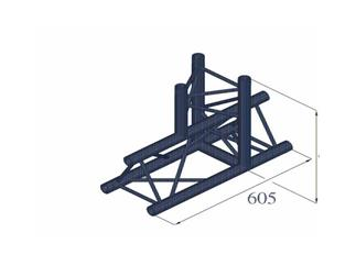 DECO-LOCK DQ3-PAT37 3-Weg T-Stück 90°