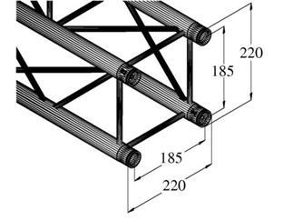 DECOLOCK DQ4-250 4-Punkt-Traverse
