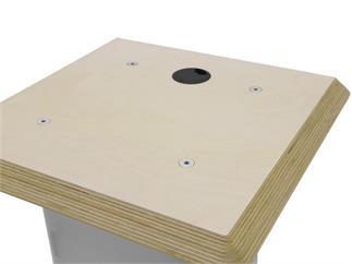 Alutruss Holzplatte 490x490x30mm mit Kabelöffnung