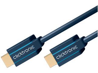 Clicktronic Casual High Speed HDMI™Kabel mit Ethernet , 3,0m  für HD- und 3D-TV