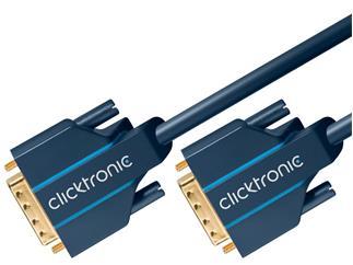 Clicktronic Casual DVI-D Verbindungskabel (DVI-D St./DVI-D St.) (24+1), 3,0m
