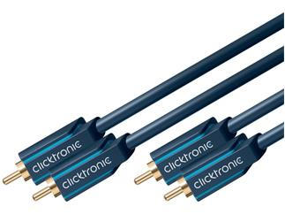 Clicktronic Casual Stereo Audiokabel (2x Cinch-St./2x Cinch-St.), 15,0m Cinch-K