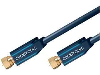 Clicktronic Casual SAT Antennenkabel (F-Stecker/F-Stecker), 10,0m F-Koaxialkabel