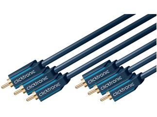 Clicktronic Casual YUV Komponentenkabel (3x Cinch-St./3x Cinch-St.), 5,0m