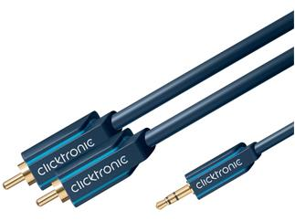 Clicktronic Casual MP3 Adapterkabel (3,5mm Klinken-St./2x Cinch-St.), 3,0m