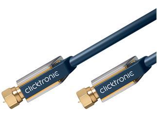 Clicktronic Advanced SAT Antennenkabel (F-St./F-St.), 15 m F-Koaxialkabel