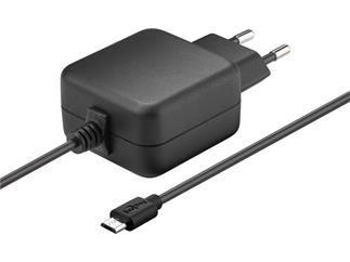 Goobay Micro USB Ladegerät 3,1 A, Steckernetzteil Euro-Flachstecker auf Micro USB