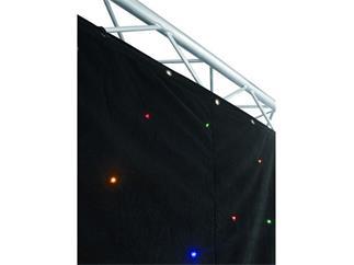 EUROLITE CRT-120 LEDs multicolor sound, DMX 3x2m Vorhang, Backdrop B1