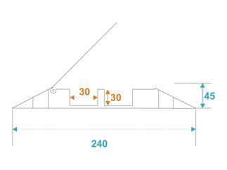 EUROLITE KB-2 Kabelbrücke 2 Kanäle 1010x240x45mm