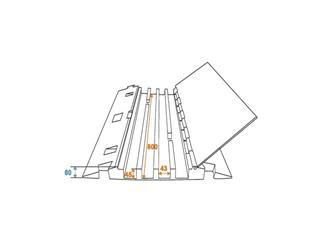 Eurolite Kabelbrücke 4 Kanäle 800mm x 550mm