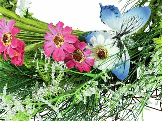 EUROPALMS Wildblumenkranz, künstlich, 65cm