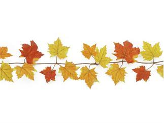 Europalms Herbstgirlande, gelb, 180cm, Kunstpflanze, 48 Blätter