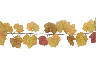 Europalms Herbstgirlande, braun, 180cm, Kunstpflanze, 48 Blätter