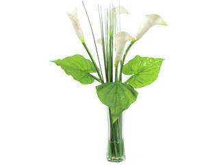 Europalms Calla im Glas, 64cm - Kunstpflanze