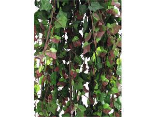 Europalms Deluxe Efeubuschranke, grün-rot, 160cm, Kunstpflanze, 1438 Blätter