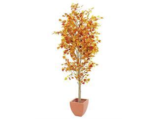 Europalms Herbstbaum im Zementtopf, 180cm, Kunstbaum, 1308 Blätter
