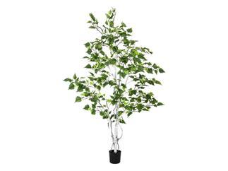 Europalms Birkenbaum im Gärtnertopf, 150cm, Kunstpflanze, 526 Blätter