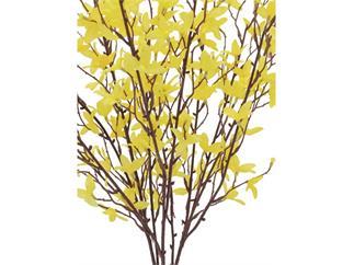 Europalms Forsythienbusch, 60cm, Kunstpflanze, 5 Zweige mit gelben Blüten